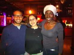 with my guests at Bar Salsa
