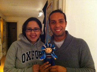 My CSers present me with a Wahaca doll