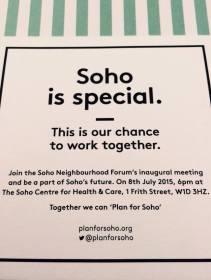 Plan for Soho awareness