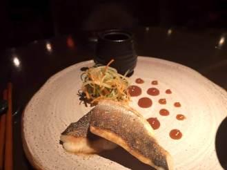 Sea bass, sesame sudachi soy