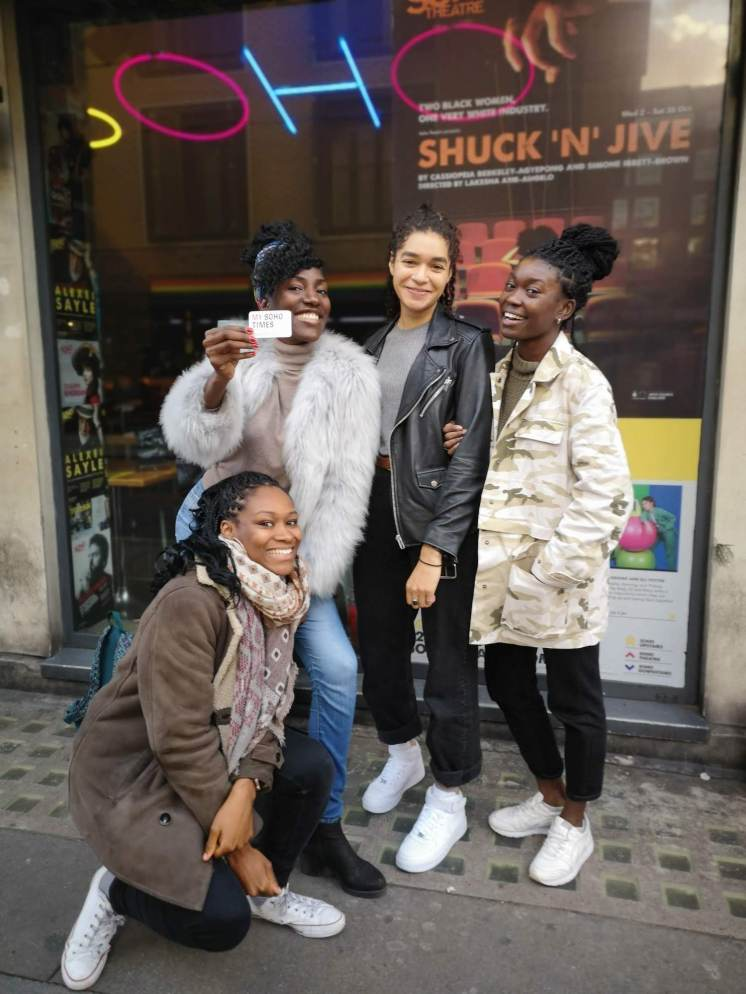 The Soho Girl with Shuck n Jive cast and co-writer