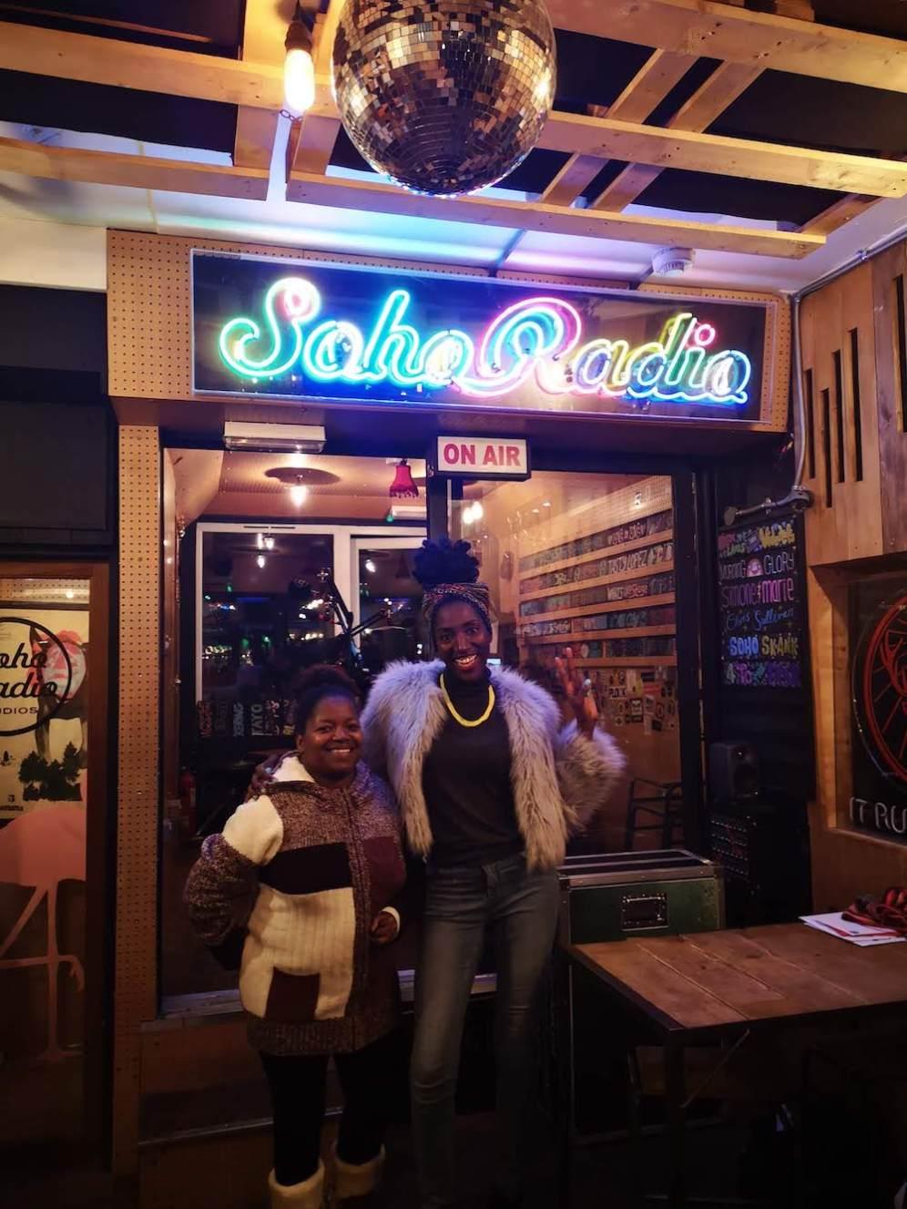 The soho girl and Bev 19th Nov
