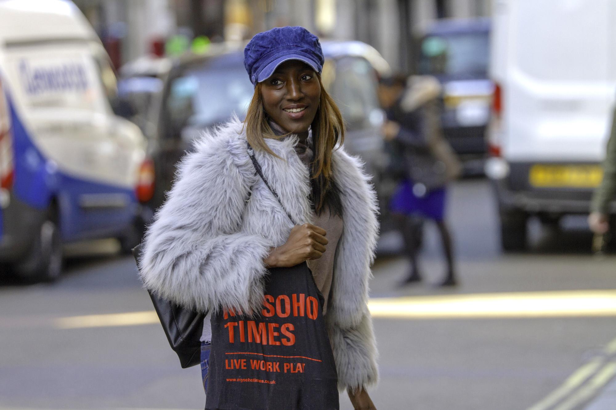 The Soho Girl | Black My Soho Times tote bag